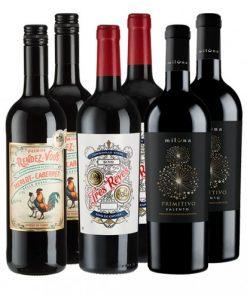 6er-Paket Europas Rotwein-Champions -   - Weinpakete