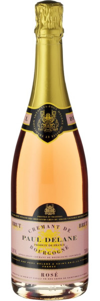 Crémant de Bourgogne Rosé - Caves de Bailly Paul Delane - Prickelndes