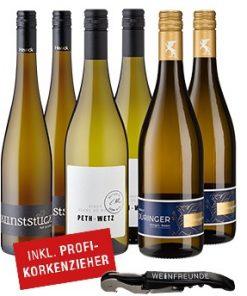 Weiße Favoriten - 6er Wein-Set inkl. Korkenzieher -   - Campaign Bundles